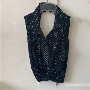 Polka dot bottom up tie top!